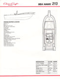Chris Craft Sea Hawk 213 Brochure