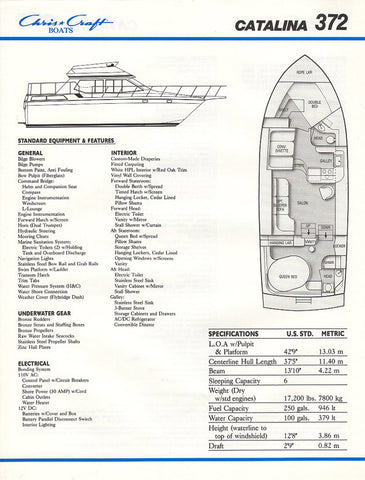 Chris Craft Catalina 372 Brochure