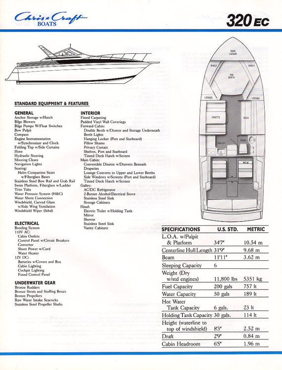 Chris Craft 320 Express Cruiser Brochure