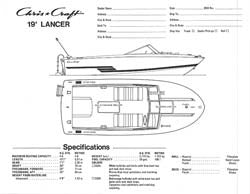 Chris Craft Lancer 19 Specification Brochure v2