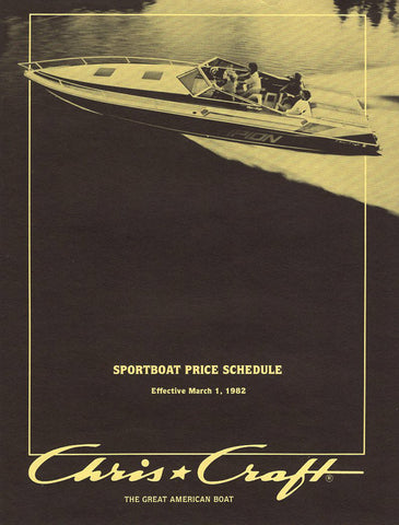 Chris Craft 1982 Sport Boat Price List