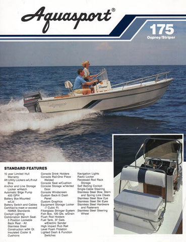 Aquasport 175 Osprey / Striper Brochure