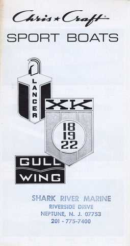 Chris Craft Lancer / XK / Gull Wing Brochure