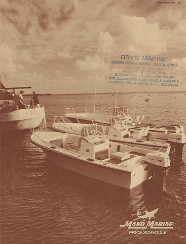 Mako 1971 Price List / Brochure