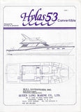 Hylas 53 Convertible Specification Brochure
