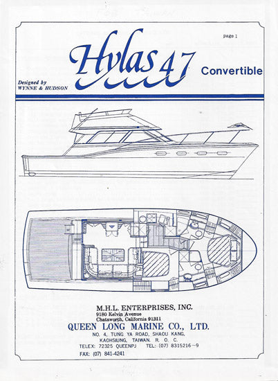 Hylas 47 Convertible Specification Brochure