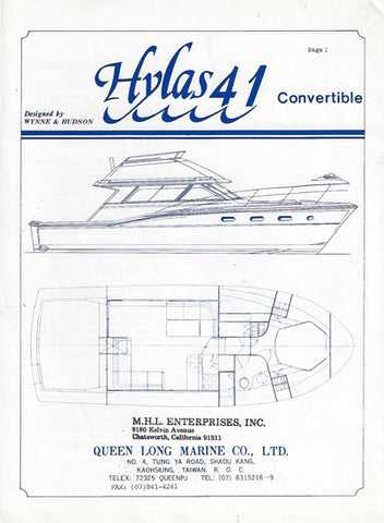 Hylas 41 Convertible Specification Brochure
