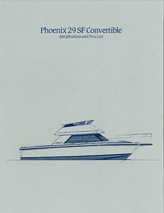Phoenix 29 SF Convertible Specification Brochure