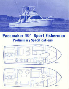 Pacemaker 40 Sport Fisherman Specification Brochure