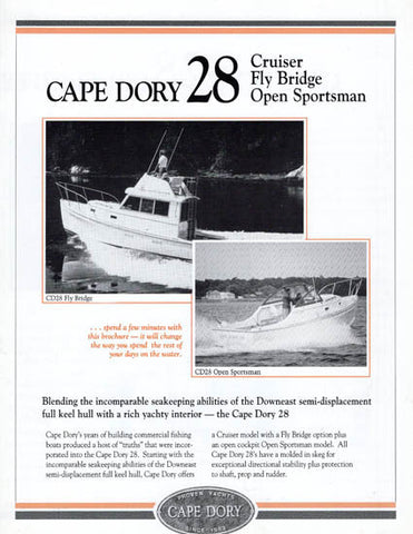 Cape Dory 28 Power Brochure