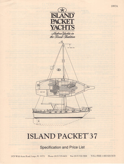 Island Packet 37 Specification Brochure