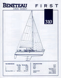 Beneteau First 310 Specification Brochure