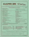 Catalina Capri 25 Specification Brochure