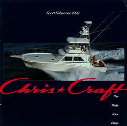 Chris Craft 1988 Sport Fisherman Brochure