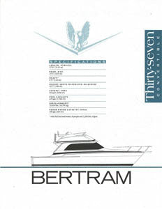 Bertram 37 Convertible Specification Brochure