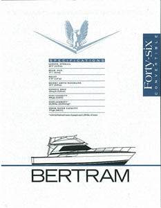 Bertram 46 Convertible Specification Brochure