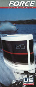 US Marine 1986 Force Outboard Abbreviated Brochure