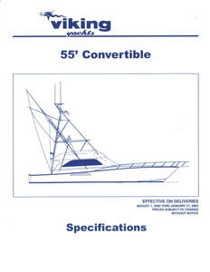 Viking 55 Convertible Specification Brochure