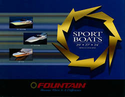 Fountain 1998 Sport Boats 24 - 29 Brochure