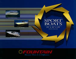 Fountain 1998 Sport Boats 29 - 35 Brochure