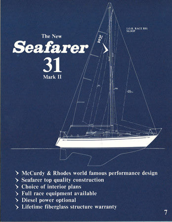 Seafarer 31 Mark II Brochure