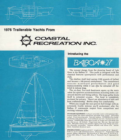 Coastal Recreation 1976 Brochure