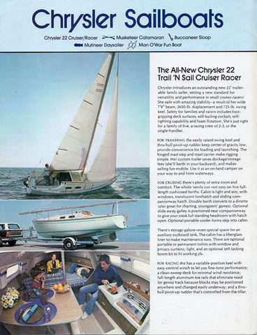 Chrysler 1975 Sailboat Brochure