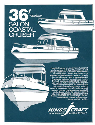 Kings Craft 36 Salon Coastal Cruiser Brochure