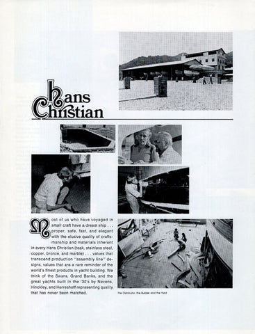 Hans Christian 38 Traditional Brochure – SailInfo I