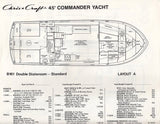 Chris Craft Commander 45 Yacht Specification Brochure