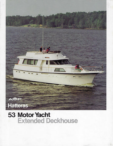 Hatteras  53 Motor Yacht Expanded Deckhouse Brochure