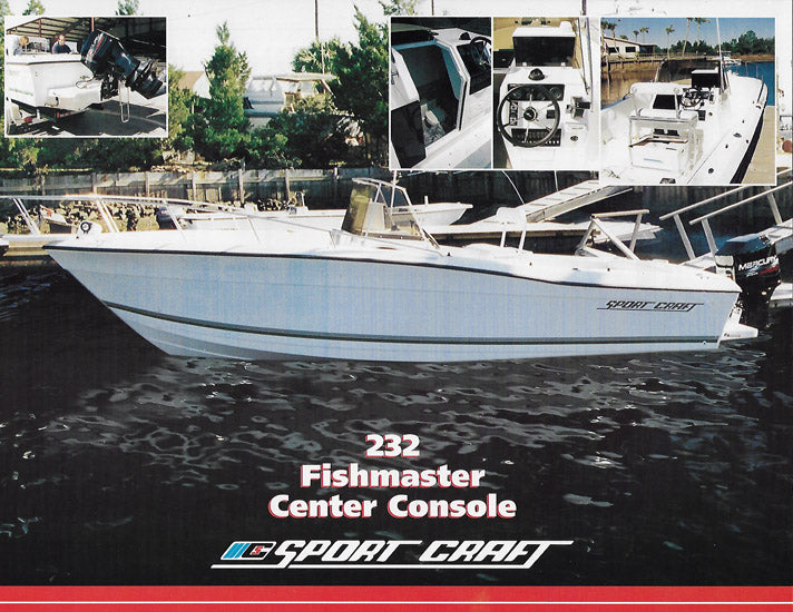 Sport Craft 232 Fishermaster Center Console Brochure