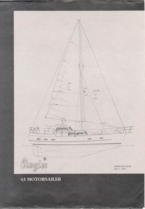 Cheoy Lee 43 Motorsailer Specification Brochure