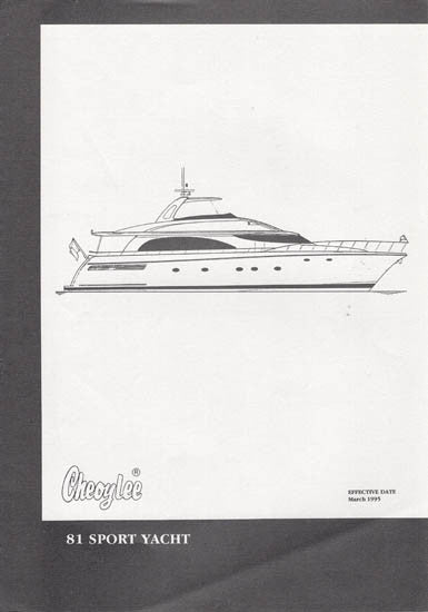 Cheoy Lee 81 Sport Yacht Specification Brochure
