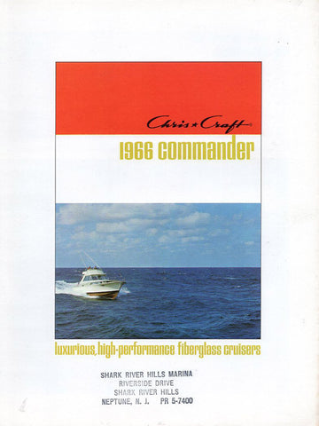 Chris Craft 1966 Commander Brochure
