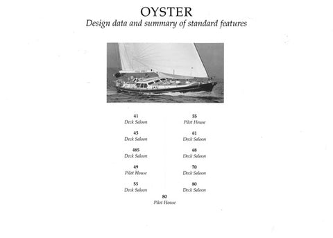 Oyster 2000 Specification Brochure