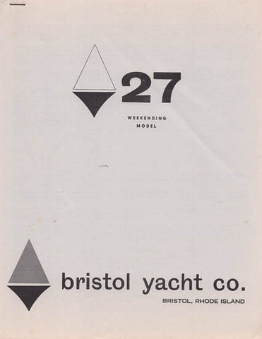Bristol 27 Weekender Specification Brochure