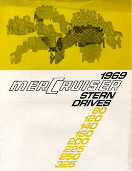 Mercury 1969 Mercruiser Stern Drives Brochure
