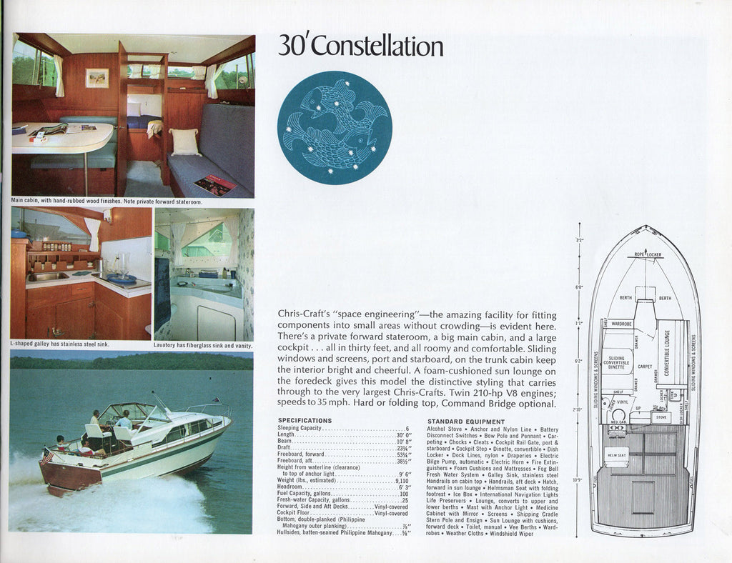 Chris Craft 1968 Constellation Brochure Sailinfo I Model A Engine Diagram