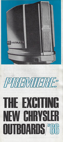 Chrysler 1966 Outboard Brochure