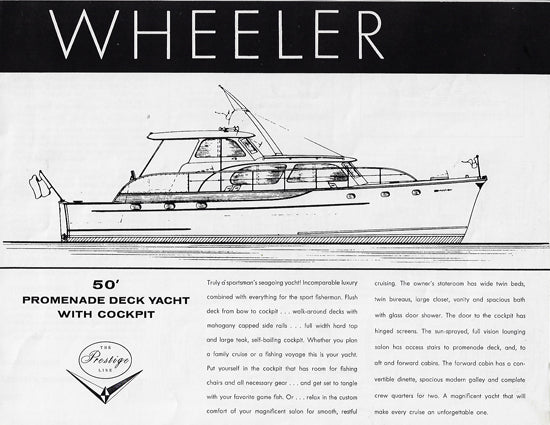 Wheeler 50 Promenade Deck Yacht Specification Brochure