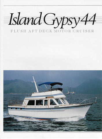 Island Gypsy 44 Flush Aft Deck Motor Cruiser Brochure