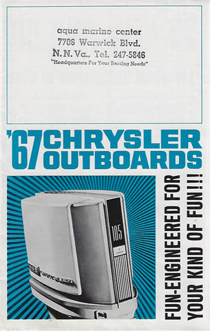 Chrysler 1967 Outboard Brochure