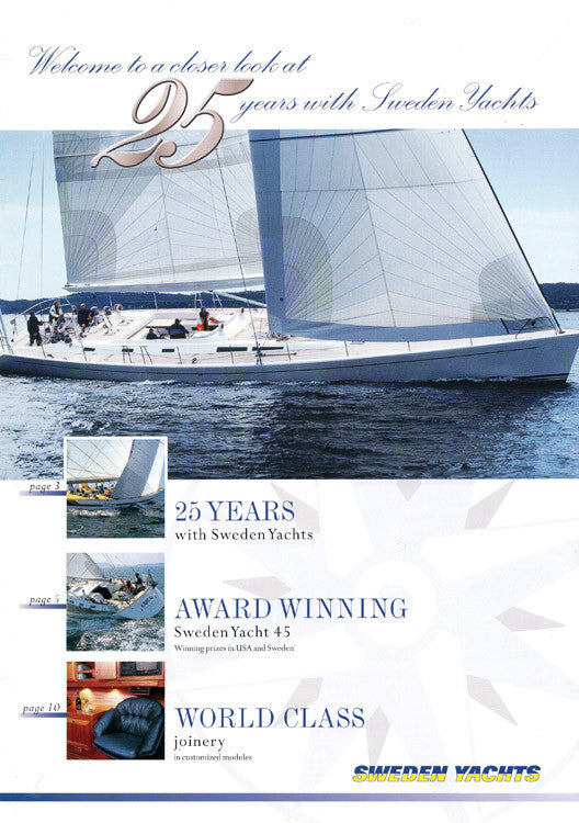 Sweden Yachts 2001 Newsletter Brochure