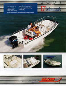 Boston Whaler Montauk 17 Brochure