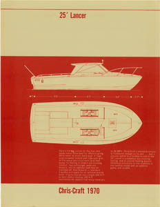 Chris Craft Lancer 25 Specification Brochure