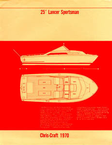 Chris Craft Lancer 25 Sportsman Specification Brochure