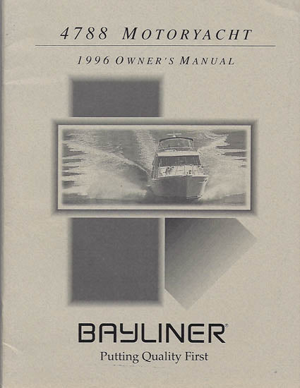 Bayliner 4788 Motoryacht Owner's Manual
