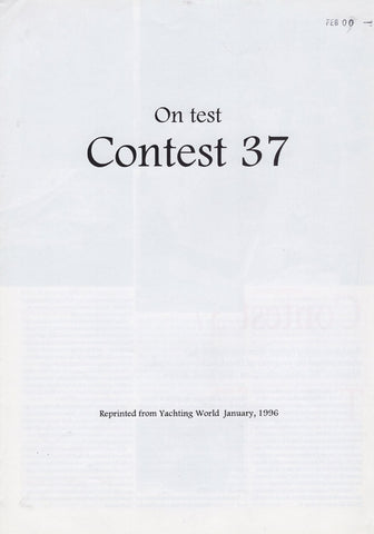 Contest 37 Yaching World Magazine Reprint Brochure