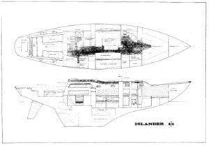 Islander 44 Interior Arrangement & Profile Plan